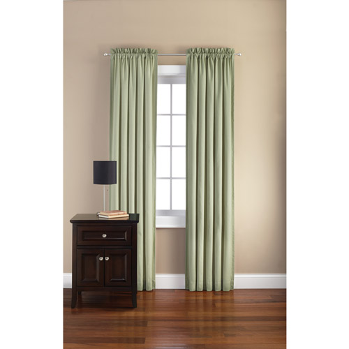 Mainstays Canvas Curtain Panel, Set of 2