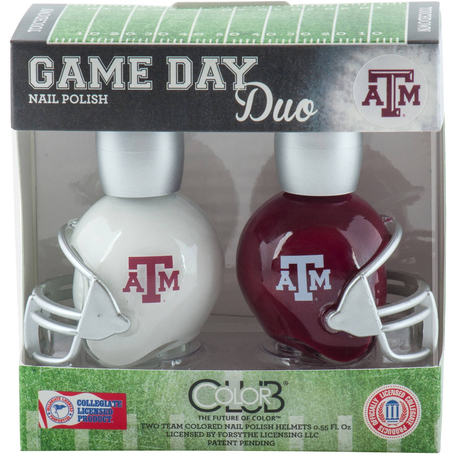 Color Club Polish Game Day Duo Pack Nail Lacquer, Texas A&M, 0.55 fl oz