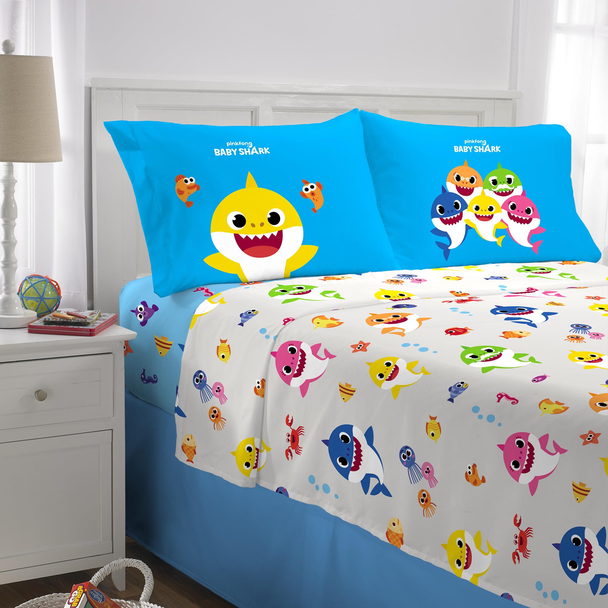 Baby Shark Sheet Set, Kids Bedding, 4-Piece Full Size ...