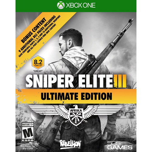 Sniper Elite III Ultimate Edition, 505 Games, Xbox One, 812872018430