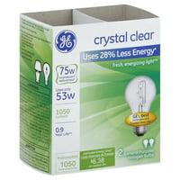 GE Energy-Efficient Crystal Clear 53-Watt, Halogen Light Bulb 2 ea