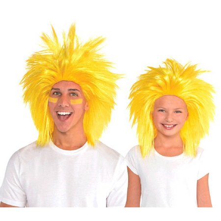 Yellow Crazy Wig (1ct)
