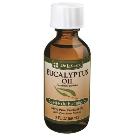 De La Cruz 100  Pure Essential Oil Eucalyptus Oil   2 Oz