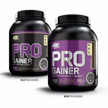 Best Optimum Nutrition Pro Gainer Protein Powder, Double Chocolate, 60g Protein, 5.09 Lb deal