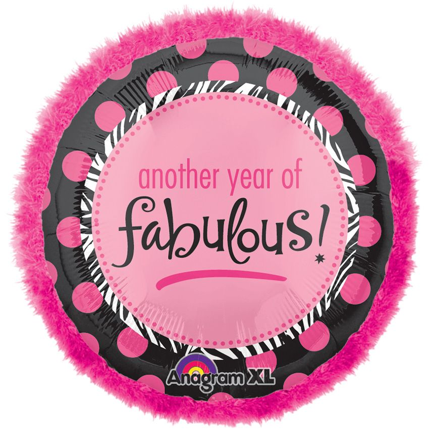 "Another Year of Fab 32"" Balloon (Each) - Party Supplies"