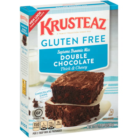 (4 Pack) Krusteaz Gluten Free Double Chocolate Brownie Mix, 20oz Box - Halloween Chocolate Brownies