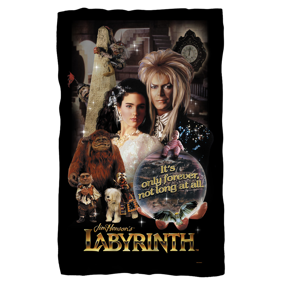 Labyrinth Only Forever Fleece Blanket White 48X80