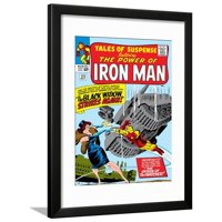 Marvel Comics Retro: The Invincible Iron Man Comic Book Cover No.53, Black Widow Strikes Again Framed Print Wall Art