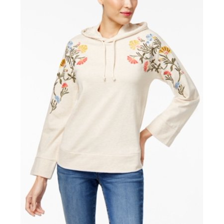 Style & Co Women's Cotton Embroidered Hoodie Size M