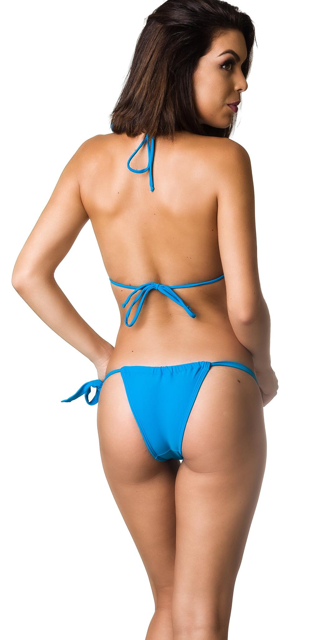 f4013b11b1 COQUETA SWIMWEAR - Women's Coqueta Swimwear Bikini Bathing Suit Tonga  Brazilian Bikini SET Carioca Bottom Sexy Swimsuit BLUE-SM - Walmart.com