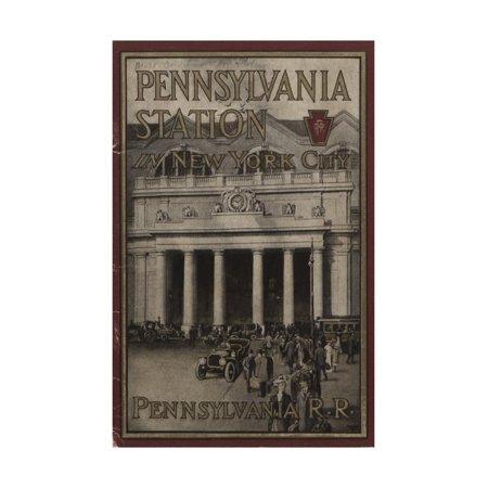 Pennsylvania Station in New York City', Advertisement for the Pennsylvania Railroad Company, 1910 Print Wall (Pennsylvania Railroad Company)