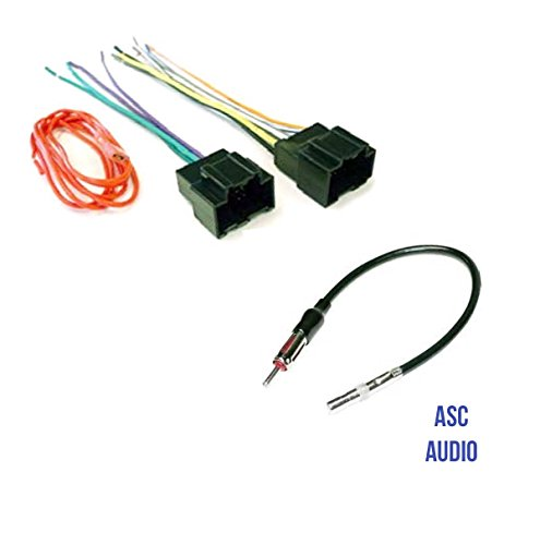 asc audio car stereo radio wire harness plug and antenna adapter for rh walmart com Delco Car Radio Wiring Diagram 2001 Blazer Radio Wiring