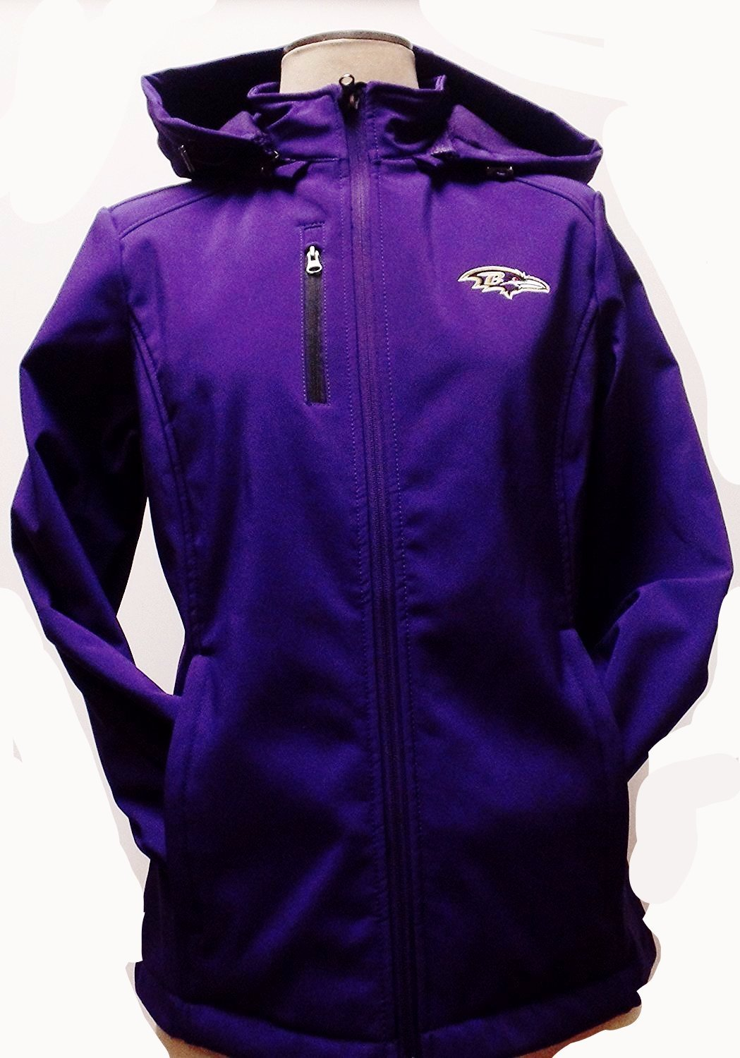 Baltimore Ravens Soft Shell Track Jacket With a Hood by G-III Sports