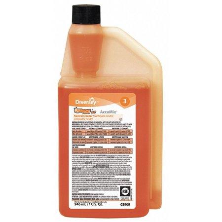 - Diversey 32 oz. Neutral Floor Cleaner, 1 EA 32 oz. Orange   903909