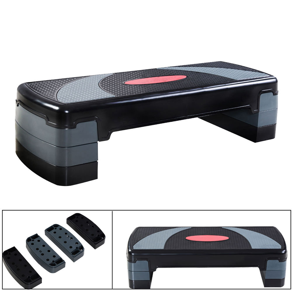 """Zimtown 31'' Fitness Aerobic Step Adjust 4"""" 6"""" 8"""" Exercise Stepper Platform Board Equipment with Risers,... by"""