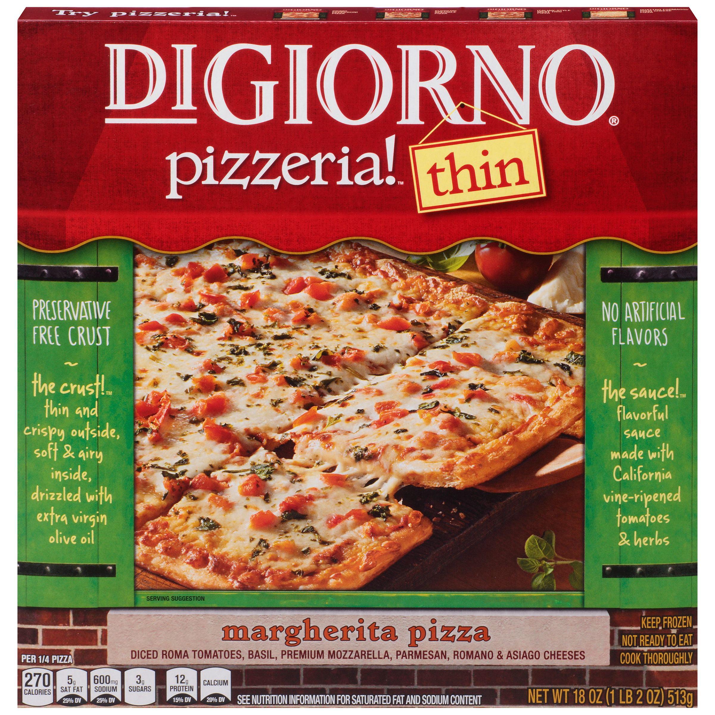 Digiorno Pizza digiorno pizzeria! thin crust margherita pizza 18 oz. box