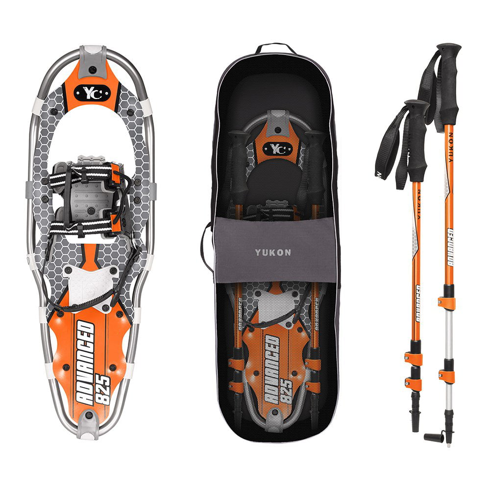 Yukon Charlie's Advanced 8 x 25 in. Men's Snowshoe Kit w  Poles & Bag | 80-3002K by Kwik Tek