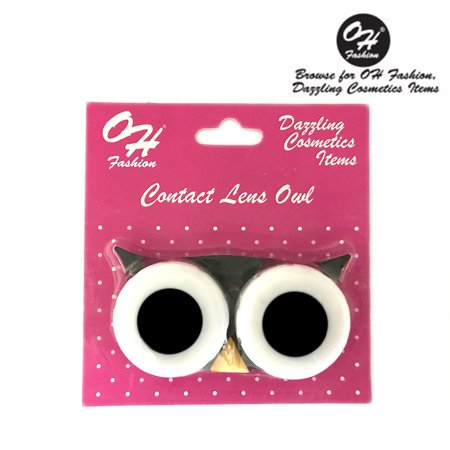 OH Fashion Contact Lens Case Owl style, Black travel case , 1 pc, eyecare , contact lens , contact storage](Halloween Contact Lenses Stores)