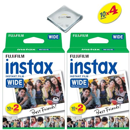 Fujifilm instax Wide Instant Film 4 Pack (40 Exposures) for use with Fujifilm instax Wide 300, 200, and 210