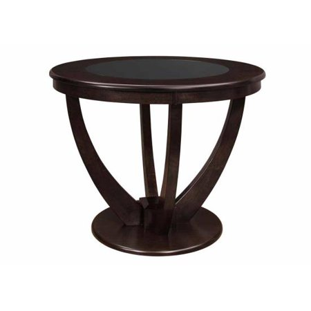 Counter Height Pedestal Base : 47.25 Counter Height Table with Black Glass Top and Pedestal Base ...