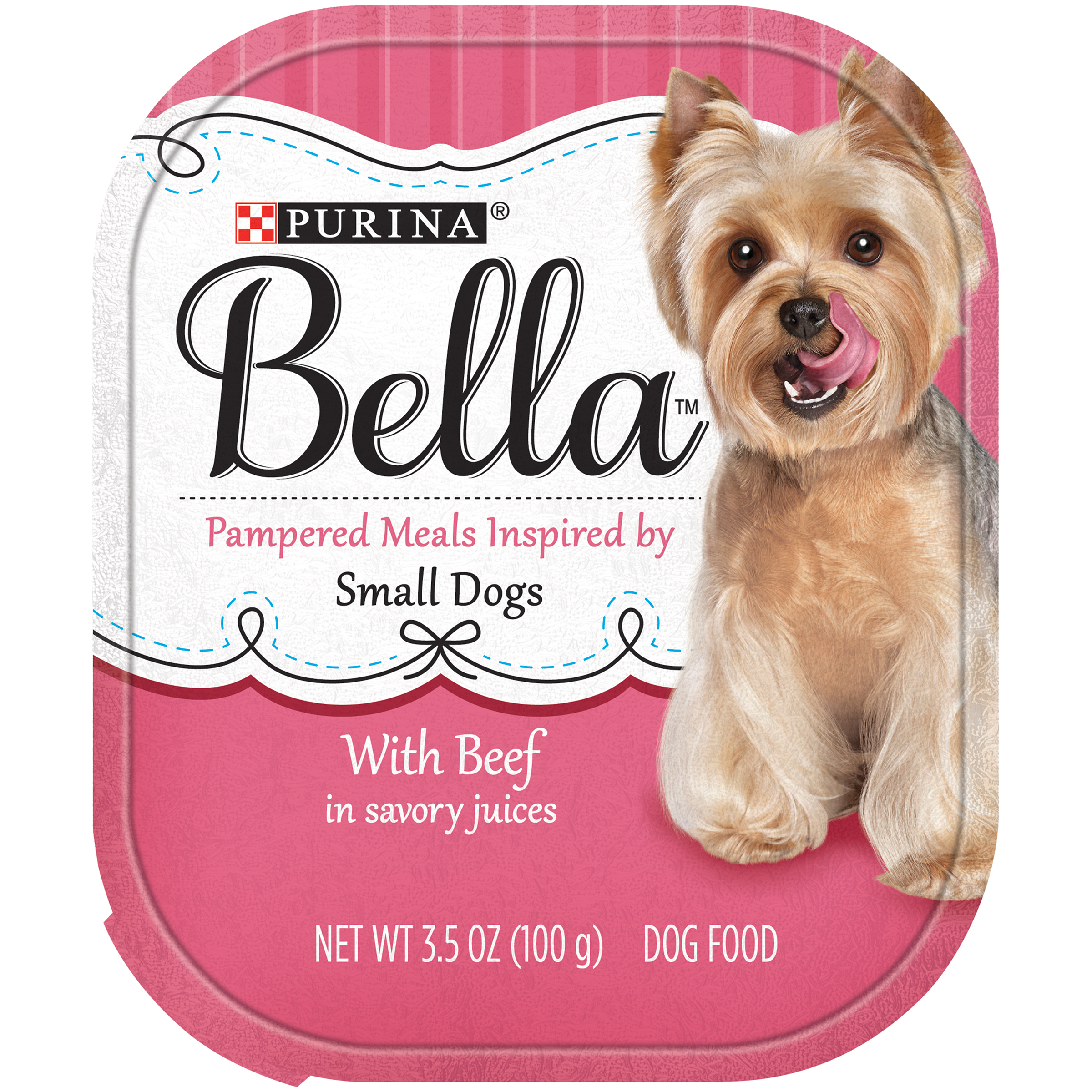 Purina Bella with Beef in Savory Juices Adult Wet Dog Food 3.5 oz. Tray