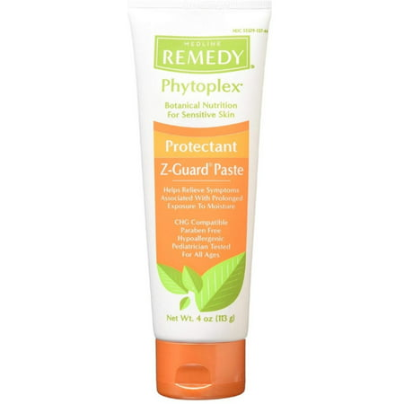 2 Pack - Medline Remedy Phytoplex Z-Guard Skin Protectant Paste, 4 oz Ayurvedic Skin Remedies