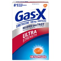 Gas-X Ultra Strength Gas Relief Softgels, 18 Count