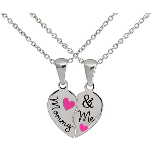 """Connections from Hallmark Girls' Stainless Steel """"Mommy & Me"""" Breakaway Pendant Set"""