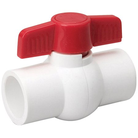 B & K 107-633HN Quarter Turn Solvent Weld Ball Valve, 1/2 in, C X C, 150 psi, PVC, - Pal Ball Valves