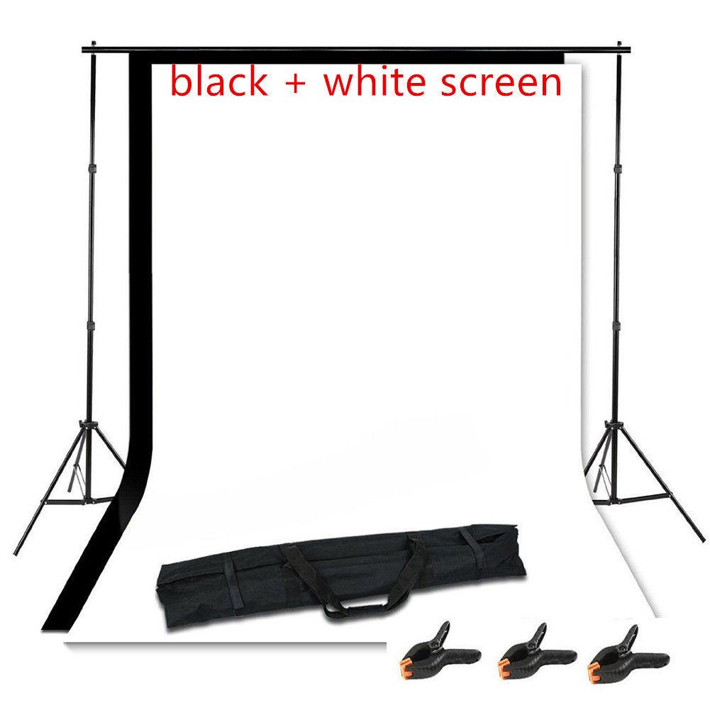 adjustable photo blackwhite backdrop background support stands photography 16 meter muslin crossbar studio frame