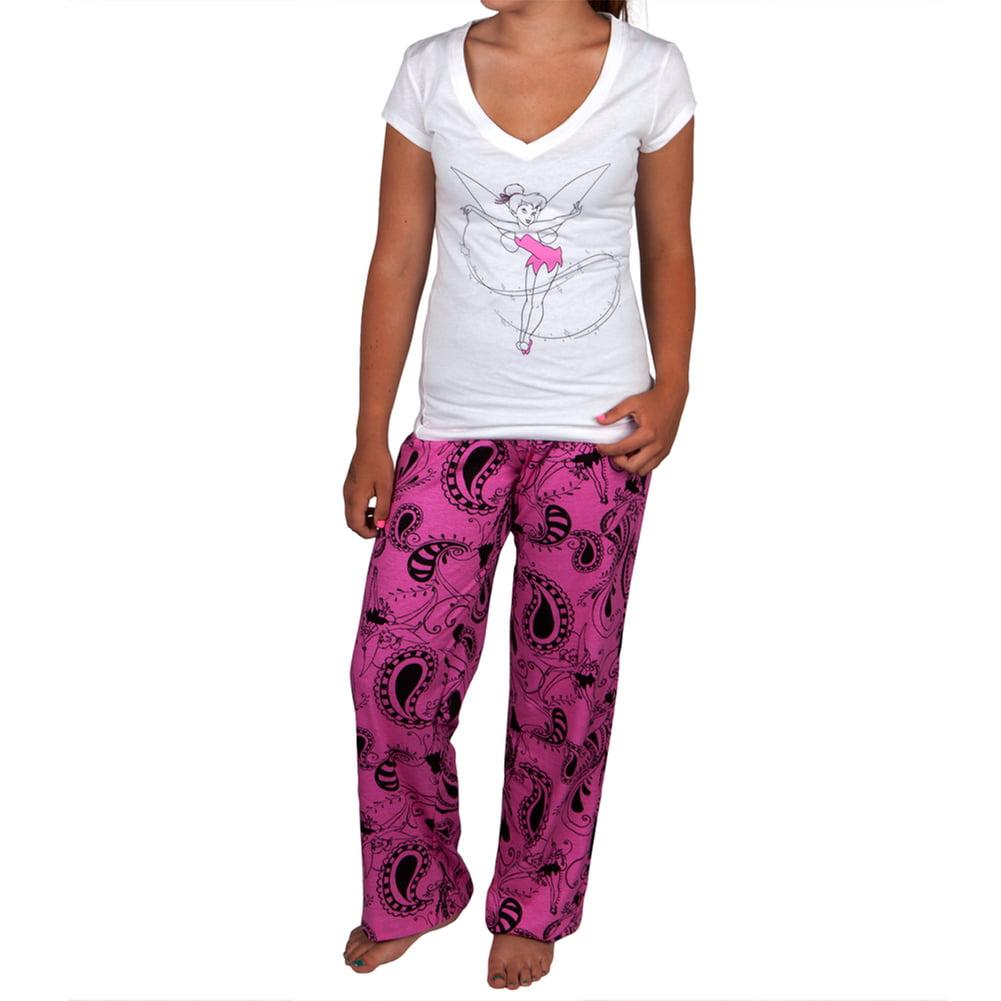 Tinkerbell - Paisley Fairy Juniors Pajama Capri Set