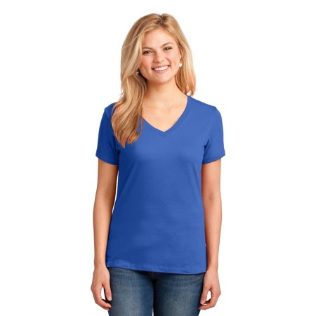Port & Company® Ladies Core Cotton V-Neck Tee. Lpc54v Royal Xxl - image 1 de 1