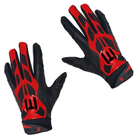 EliteTek Super Grip Baseball Batting Gloves (Red b96409238302