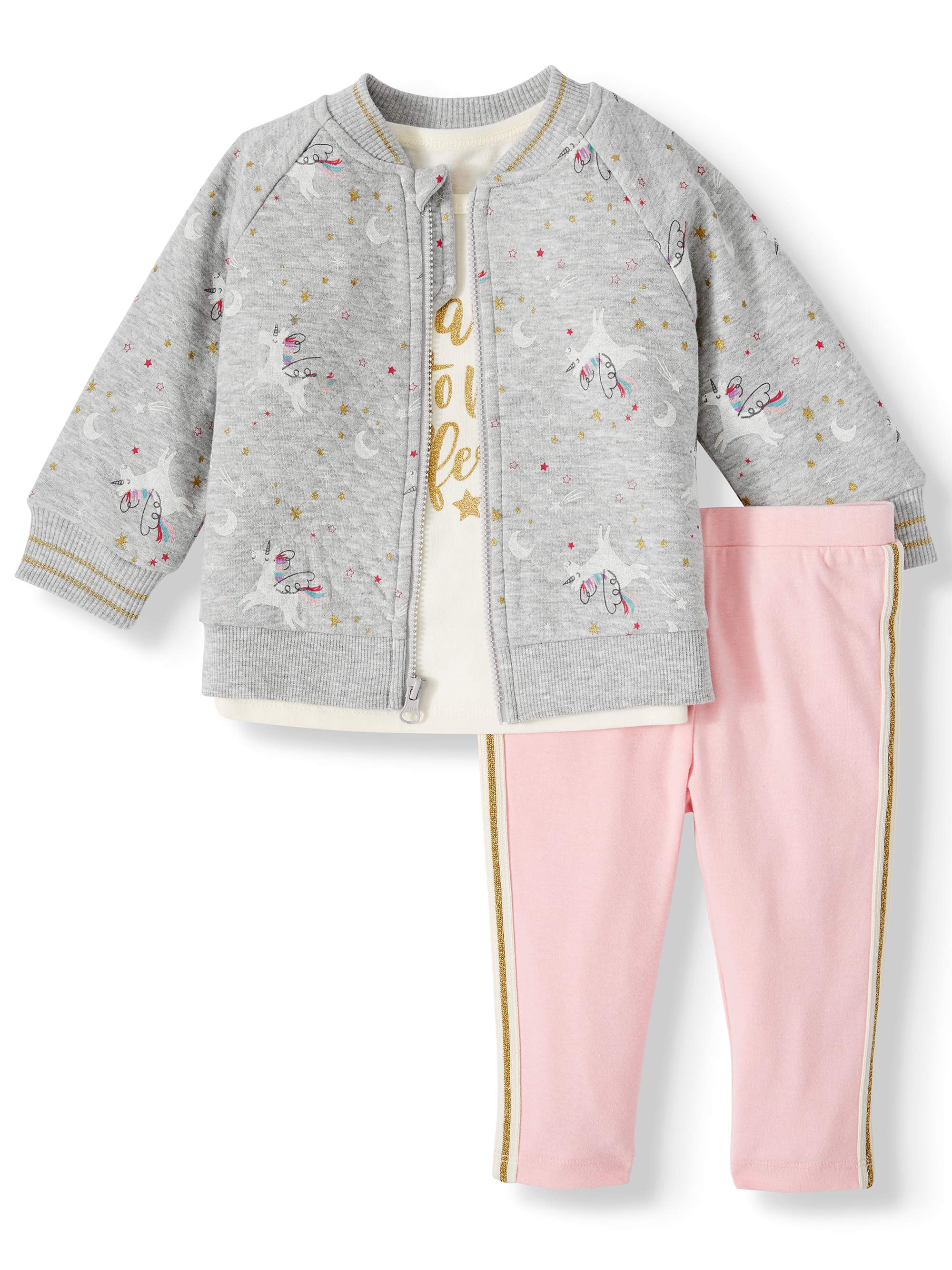 Newborn Baby Girls/' Long-Sleeve Metallic Ruffle Bodysuit 3M 3-6M 6-9M GARANIMALS