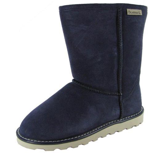 Bearpaw Womens Payton 8-Inch Suede Sheepskin Boot Shoe, Indigo, US 7