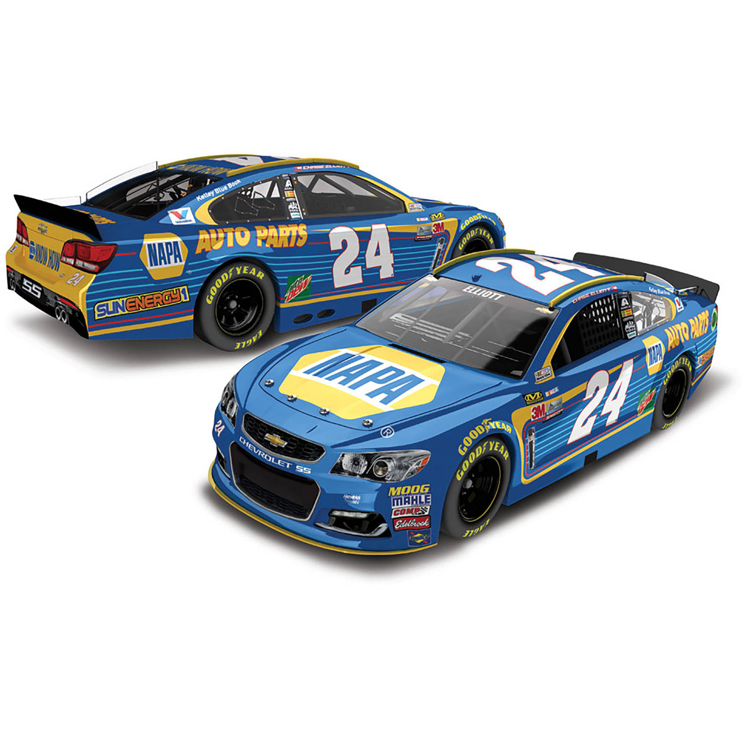 Action Racing Chase Elliott 2017 #24 NAPA 1:24 Monster Energy Nascar Cup Series Die-Cast... by Lionel Racing