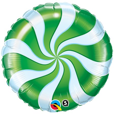 Candy Get Well Balloons (Qualatex Christmas Candy Cane Swirl Round 18