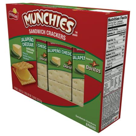 Munchies Jalapeno Cheddar Sandwich Crackers 11.04 oz. Box ...