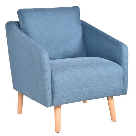- Costway Accent Leisure Chair Fabric Upholstered Arm Chair Single Sofa Living Room
