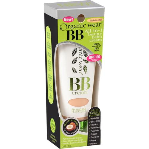 Physicians Formula Organic Wear BB All-in-1 Beauty Balm Cream, 6429 Light/Medium, 1.2 fl oz