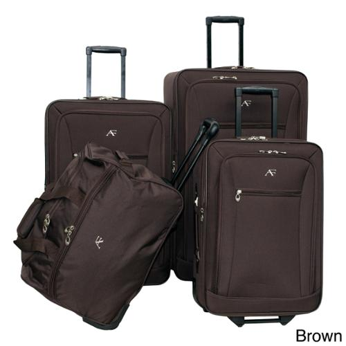 American Flyer Brooklyn Collection 4-piece Luggage Set Brown