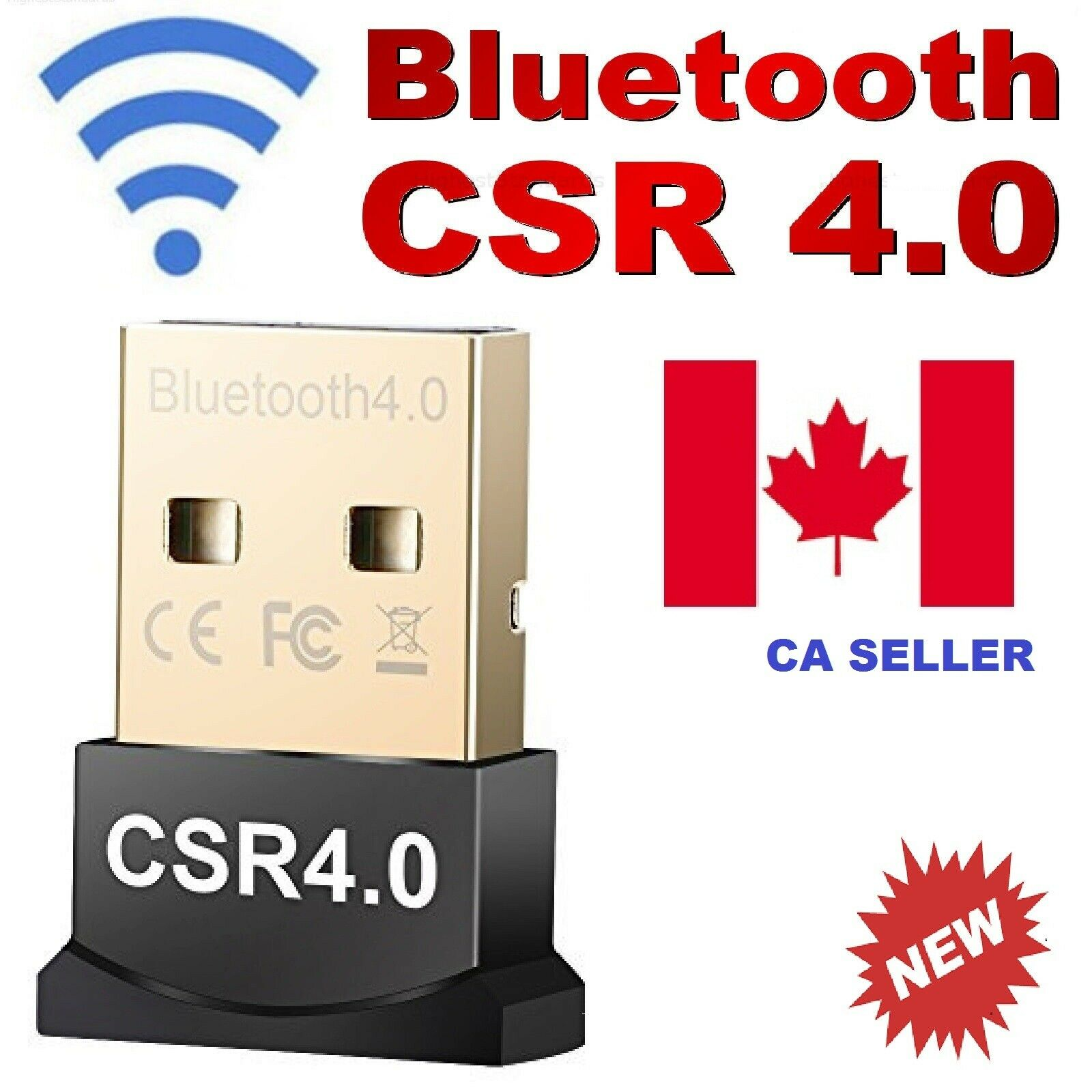 USB 4.0 Wireless Bluetooth Adapter Dongle CSR for PC,Linux,Printers,Laptop