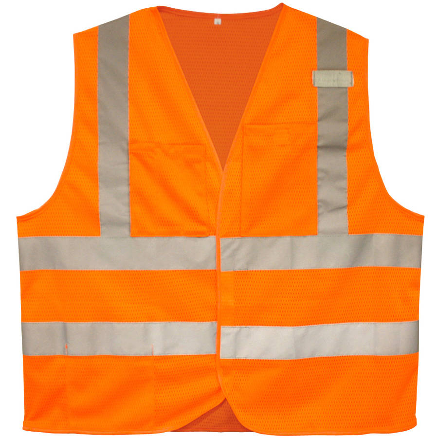Cordova Flame-Resistant Class II High-Visibility Orange 2-Pocket Safety Vest