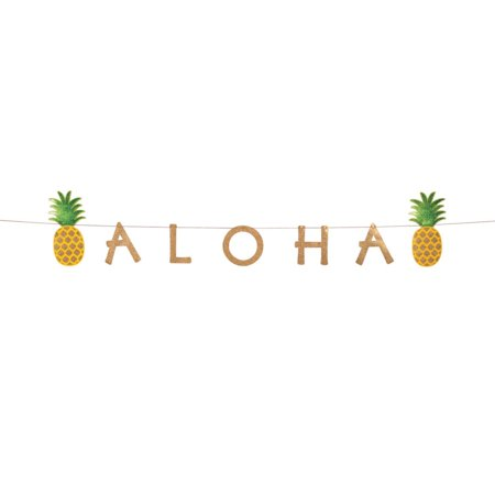 Pineapple Aloha Jointed Banner](Aloha Party Supplies)