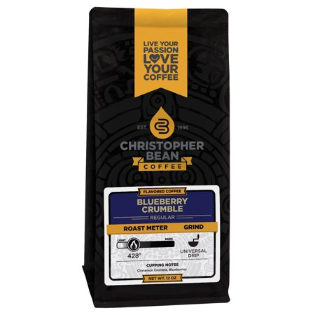 Blueberry Crumble Decaf Flavored Ground Coffee, 12 Ounce Bag