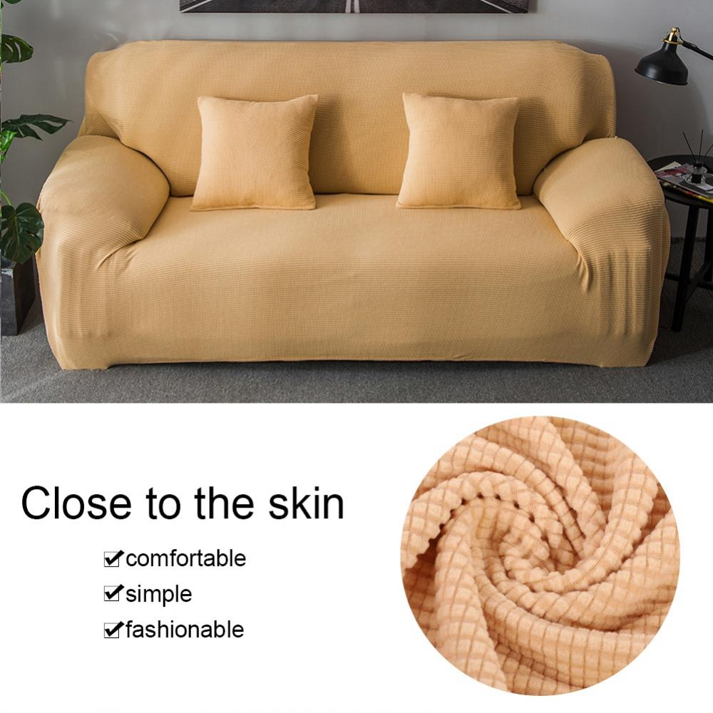 Zerone 1-4 Seat Comfortable Sofa Couch Cover Fleece Thick Knitting Slipcover Chair Throw Mat Furniture Protector,Sofa Cover