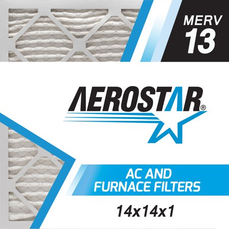 14x14x1 ac and furnace air filter by aerostar - merv 13, box of 6 ...