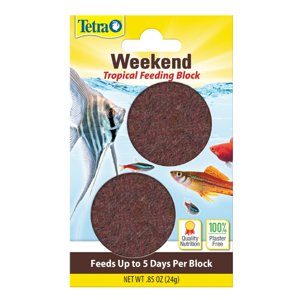 Tetra Weekend Tropical Feeding Block, Slow Release Tropical Fish Food