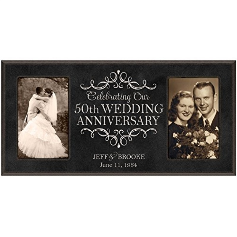 Wedding Anniversary Gifts For Her: 50th Anniversary Picture Frame Gift Personalized 50th