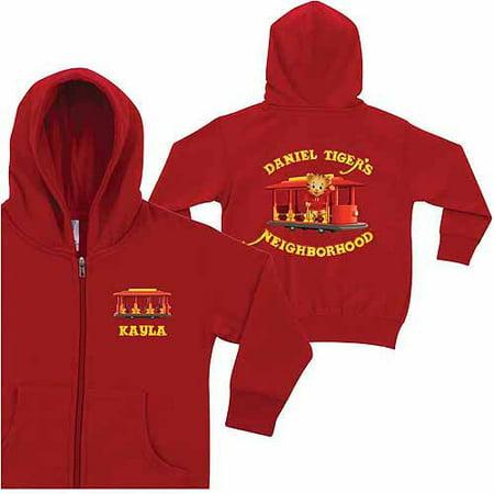 Personalized Daniel Tiger's Neighborhood Kids' Red Zip-Up Hoodie](Personalized Kids)